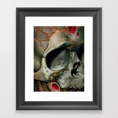 small bio skull Framed Art Print