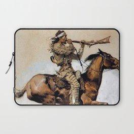 "Frederic Remington ""Buffalo Hunter Spitting Bullets"" Western Art Laptop Sleeve"