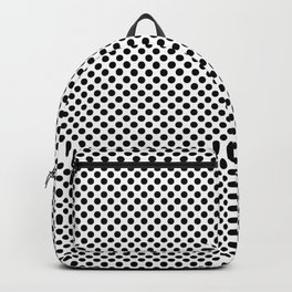 White and Black Polka Dots Backpack