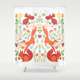 Early Fall Festive Flower Frolic Shower Curtain