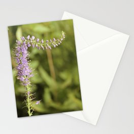 Purple Abstract Flower Vintage Stationery Cards