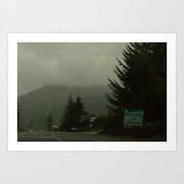 Welcome to Oregon Art Print