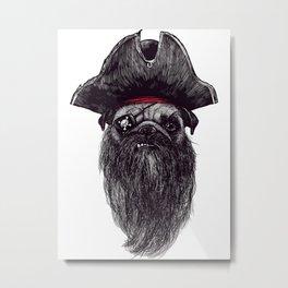Pirates The Dog Metal Print