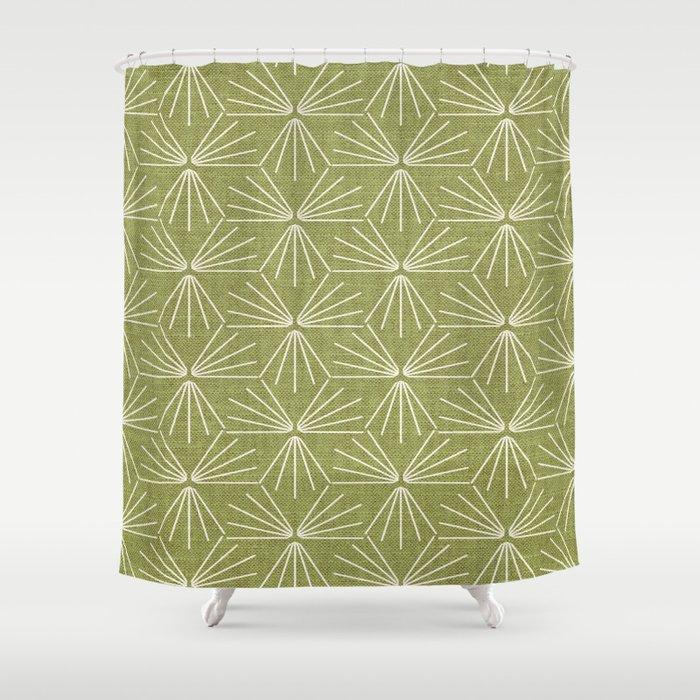 SUN TILE GREEN Shower Curtain