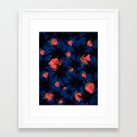 strawberry Framed Art Prints featuring strawberry  by mark ashkenazi