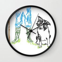 Sheep dog Wall Clock