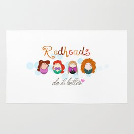 Red Heads Do It Better Rug