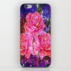 Roses with sparkles and purple infusion iPhone Skin