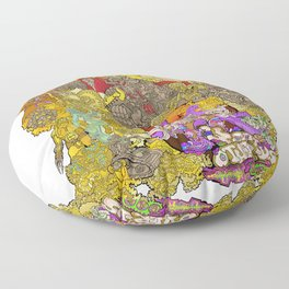 The Characters of Other Worlds Floor Pillow