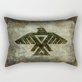 Thunderbird, Emblem of the Anishinaabe people - Vintage version Rectangular Pillow