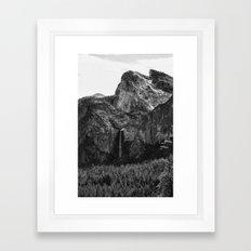 Yosemite Sentiel Falls-Rock-Dome Framed Art Print