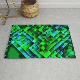 Green disco floor Rug