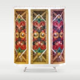 Talawang - Borneo Art Wood Shower Curtain