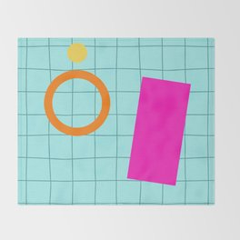 Pool Party Throw Blanket