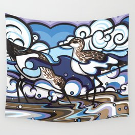 The Sandpipers Wall Tapestry