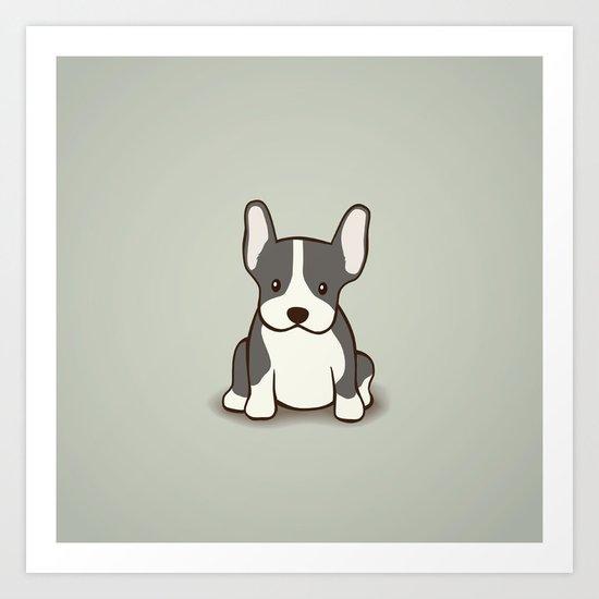 French Bulldog Dog Illustration Art Print