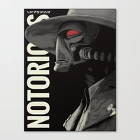 notorious Canvas Prints featuring Notorious by MORPHEUS