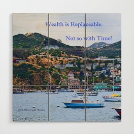 """Catalina Harbor""/ ""Time"" Wood Wall Art"