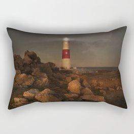 Evening Coast With Lighthouse Rectangular Pillow