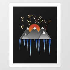 Warm Sun With A Cold Climate Art Print