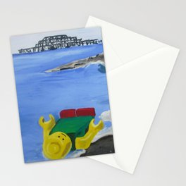 Lego Beach Acrylics Impressionist Fine Art Stationery Cards