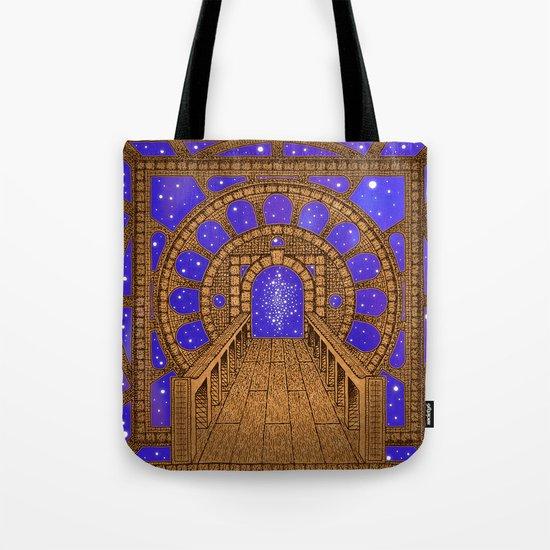 orvio illuminated space mandala Tote Bag