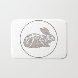 In which a rabbits anatomy is observable  Bath Mat
