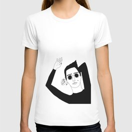 The Girl with the sunglasses T-shirt