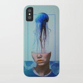 Jellyfish blue. iPhone Case