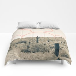 Wonder Rift // Abstract Vintage Mountains Summer Sun Surfer Beach Vibes Drawing Happy Wall Decor Comforters