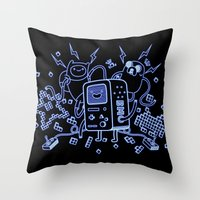 bmo Throw Pillows featuring BMO by Daniel Delgado