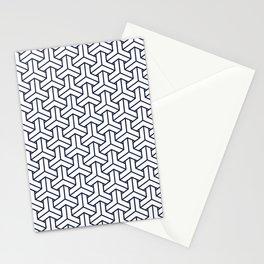 Japanese Yukata Jinbei Bishamon Navy reversed pattern Stationery Cards