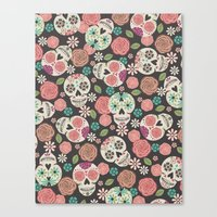 sugar skulls Canvas Prints featuring Sugar Skulls by Bohemian Gypsy Jane