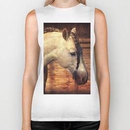 Beauty, a beautiful horse with plaited mane Biker Tank