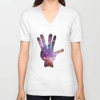 nebula V-neck T-shirts featuring Nebula by mailboxdisco