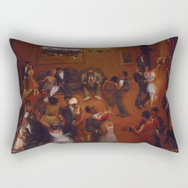 African-American Classical Masterpiece Harlem Dance Hall by Archibald Motley Rectangular Pillow