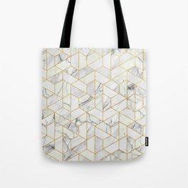 Marble hexagonal pattern Tote Bag