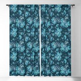 Tropical fruit - Pitanga - blue version Blackout Curtain