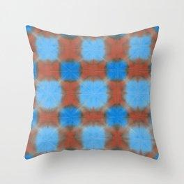 Shibori (blue and brown) Throw Pillow