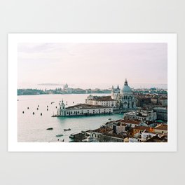 December Sunset, Venice Art Print