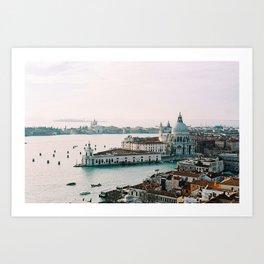 December Sunset, Venice Art Print