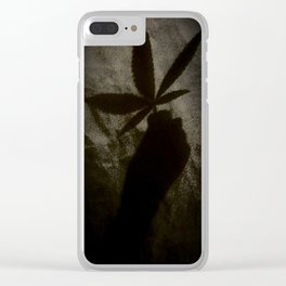 Weed Shadow Clear iPhone Case