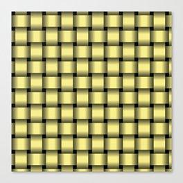 Khaki Yellow Weave Canvas Print