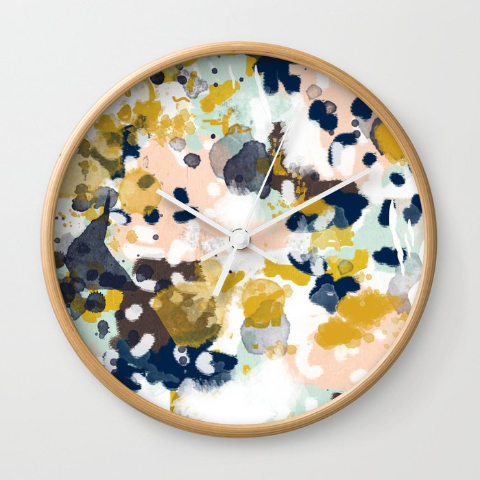 Sloane Abstract Painting Gender Neutral Baby Nursery Dorm College Decor Wall Clock By Charlottewinter Society6