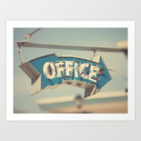the office Art Prints featuring Office by bomobob