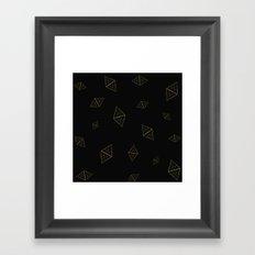 Golden Crystals Framed Art Print