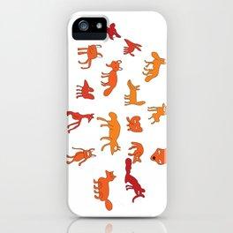Weird Foxes iPhone Case