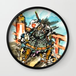 Benkei and Ushiwakamaru Wall Clock