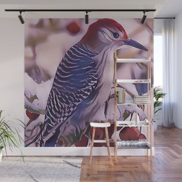 The Red Bellied Woodpecker Wall Mural
