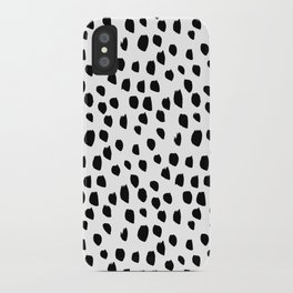 Handdrawn drops and dots on white-Mix & Match with Simplicty of life iPhone Case